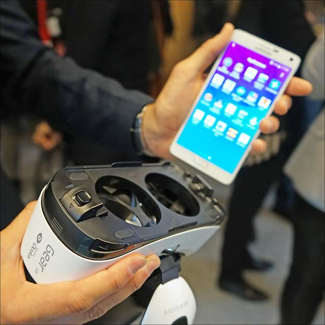 Casque Samsung de réalité virtuelle (Prix Möbius 2015, Lugano, Suisse)