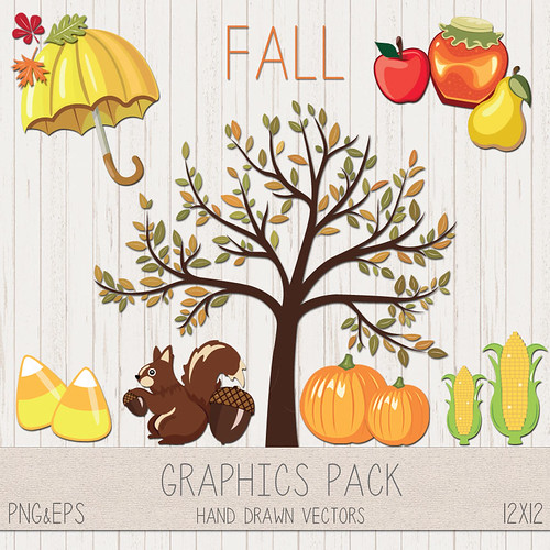 LeeLee Graphics - Fall Clip Art