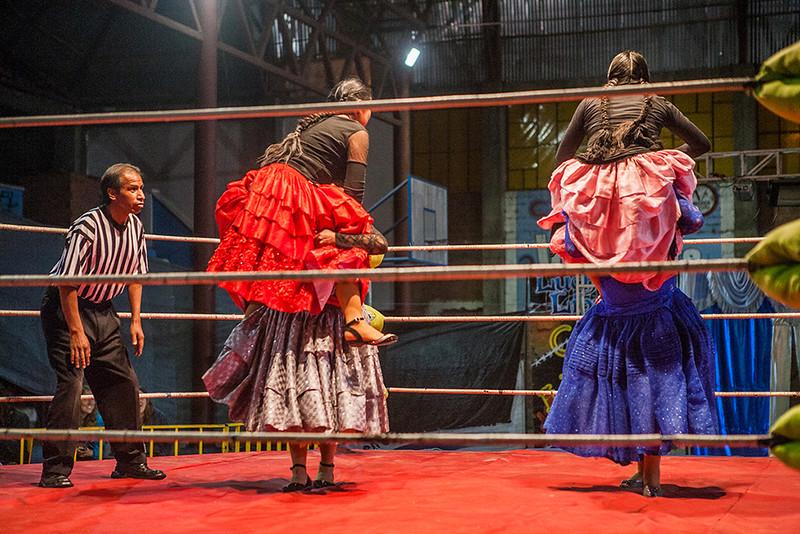Bolivia - Cholitas wrestling in La Paz