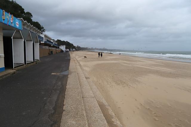 The beach at Branksome Dene, Poole
