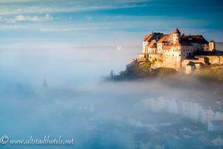 Burghausen, longest castle of the world above the historical city, Bavaria, Germany | by www.altstadthotels.net