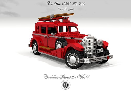 Cadillac 1933 452C V16 Fire Engine (Matchbox - Models of Yesteryear)