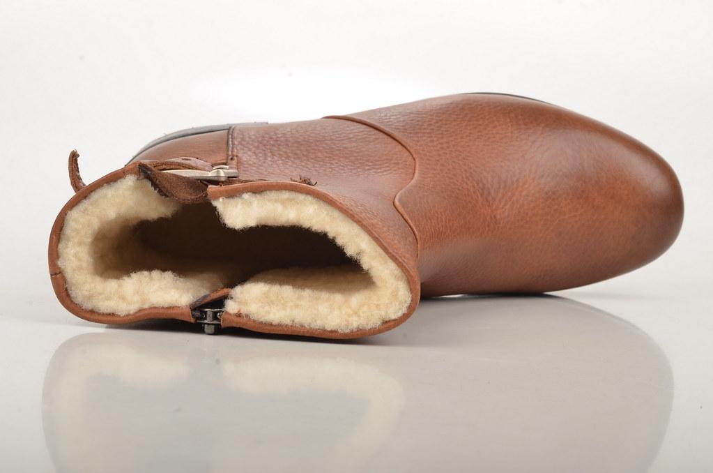 separation shoes 83f11 32e3d Blackstone Ankle Boot / Stiefelette Kalbsleder Lammfell ge ...