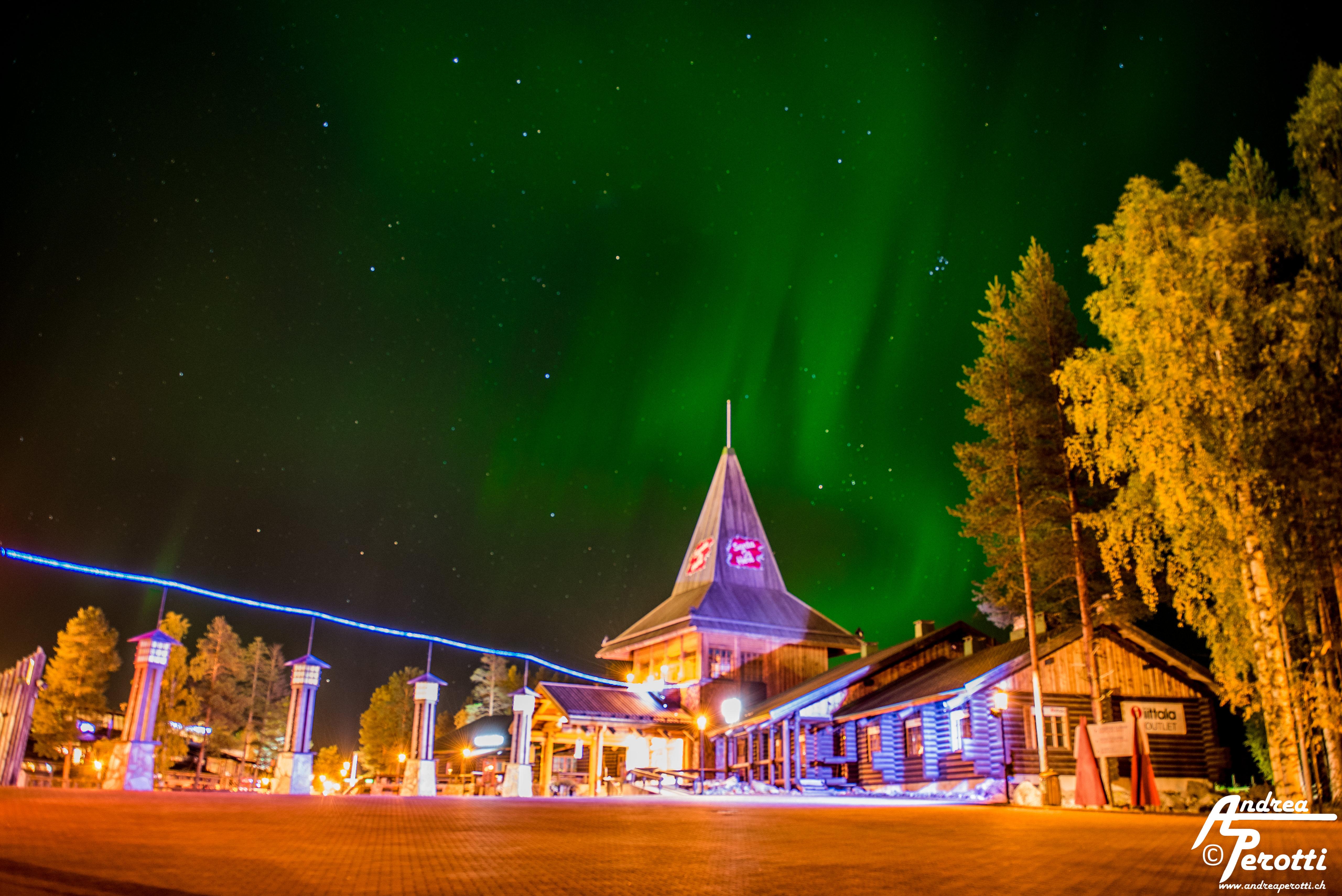 Aurora Borealis Santa Claus Village Rovaniemi