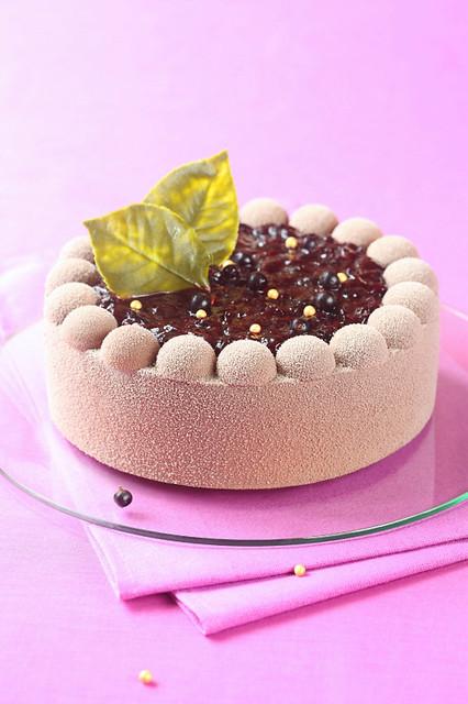 Chocolate Black Currant Mousse Entremet