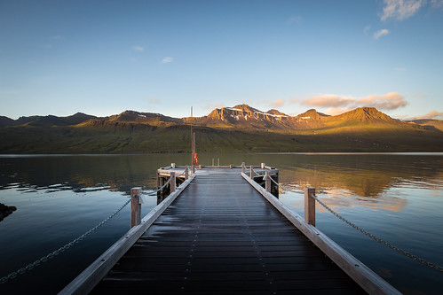 travel light sky sun mountains colour clouds sunrise canon reflections island bay is iceland view jetty ngc east vista fjord 6d canonef1635f4lis