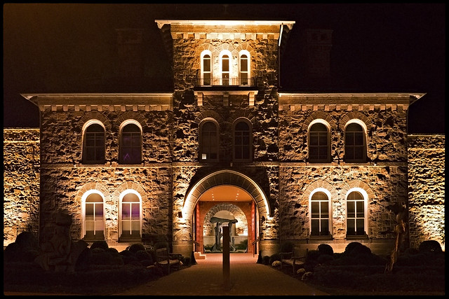 Michener Art Museum at night, Doylestown, PA