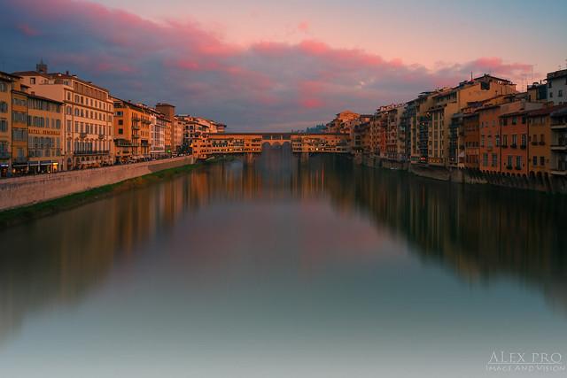 Ponte Vecchio, Sunset