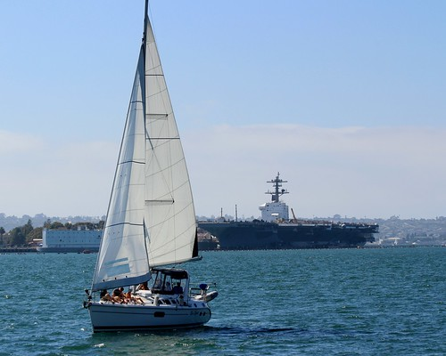 Sail Boat & Nuclear Air Carrier | by Prayitno / Thank you for (12 millions +) view