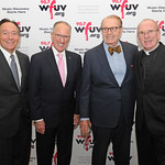 Mon, 02/11/2015 - 7:18pm - Mike 'Doc' Emrick, winner of the Vin Scully Lifetime Achievement Award in Sports Broadcasting (second from left) with, from left, Bob Daleo, President of the Fordham University Board of Trustees, Charles Osgood, and Father Joseph McShane, S.J., President of Fordam University.  November 2, 2015 in New York City. Photo by Chris Taggart.