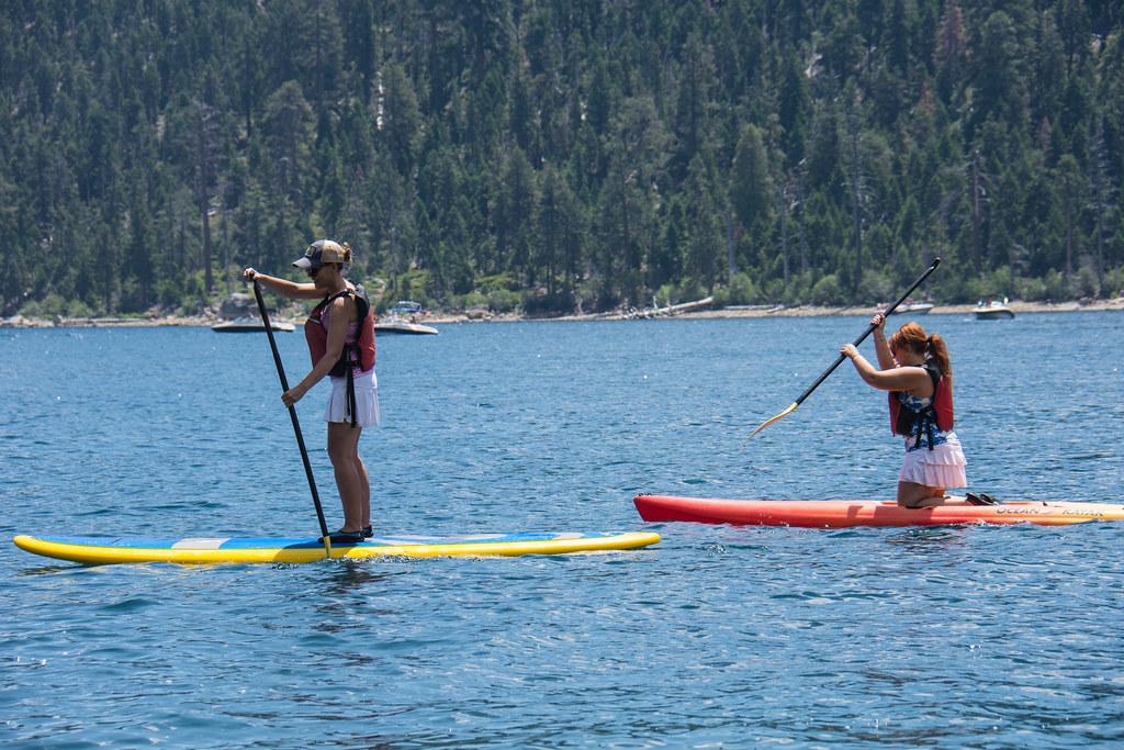 Paddleboarding in Lake Tahoe