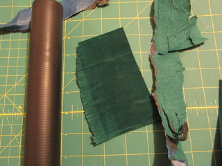 Velour-wrapped platen: unpeeled