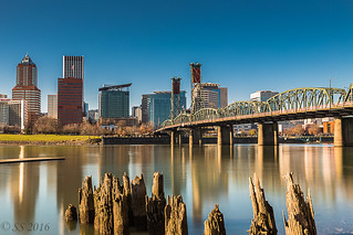 Portland Skyline and the Hawthorne Bridge | by Scrumhalf