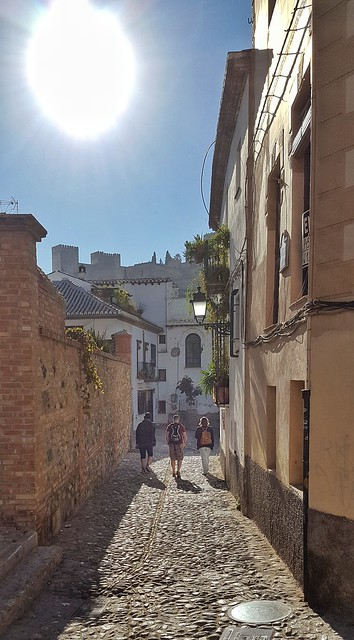 Walking down from Saint Nicolas church In Granada