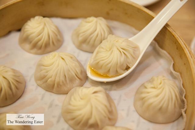 Juicy pork soup dumpling  (or xiao long bao)