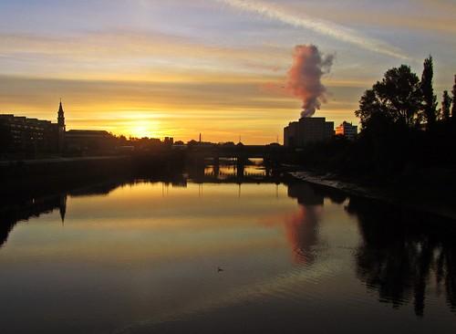 sunrise glasgow river clyde riverclyde reflections bridge bricheno scotland escocia schottland écosse scozia escòcia szkocja scoția 蘇格蘭 स्कॉटलैंड σκωτία cormorant