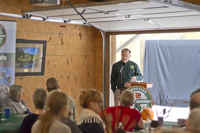 Ed Carter, dedication ceremony, Blackburn Fork WMA, Jackson County, Tennessee