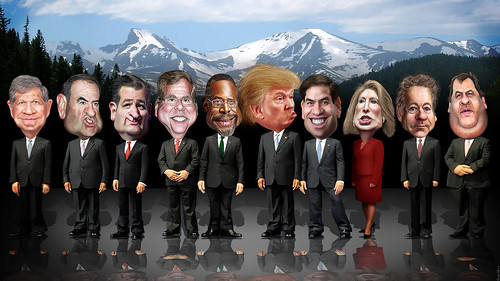 CNBC Republican Debate Lineup | by DonkeyHotey