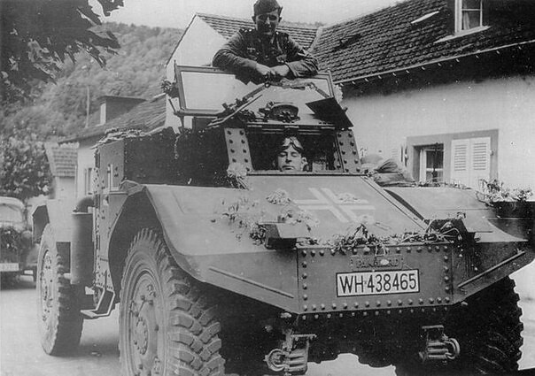 """Captured French armored car """"Panhard 178"""""""