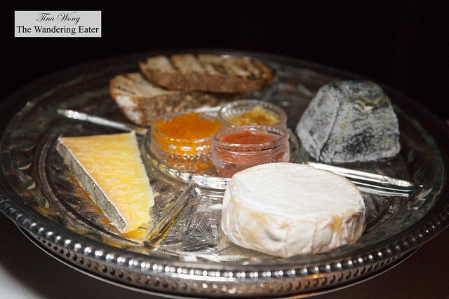 Cheese platter and house made jams