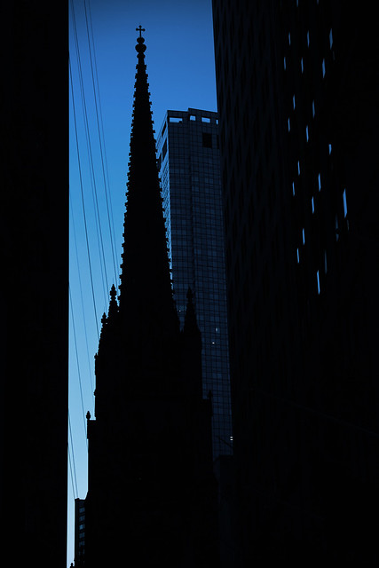 American Gothic - Dusk on Wall Street