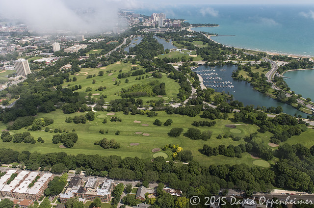Jackson Park Golf Course in Chicago Aerial Photo