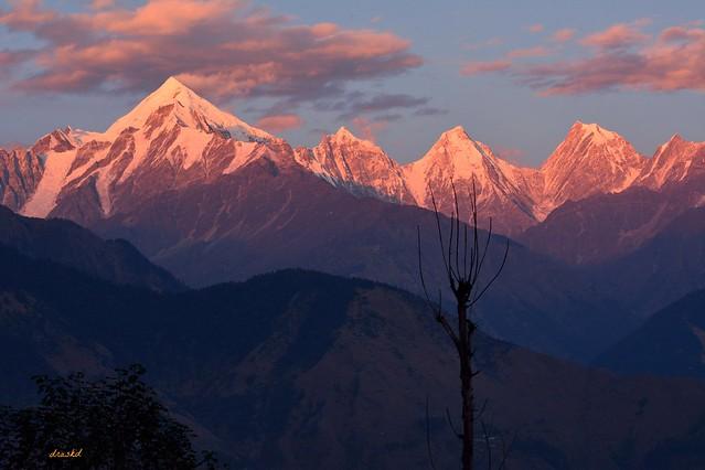Sunset on Panchachuli range