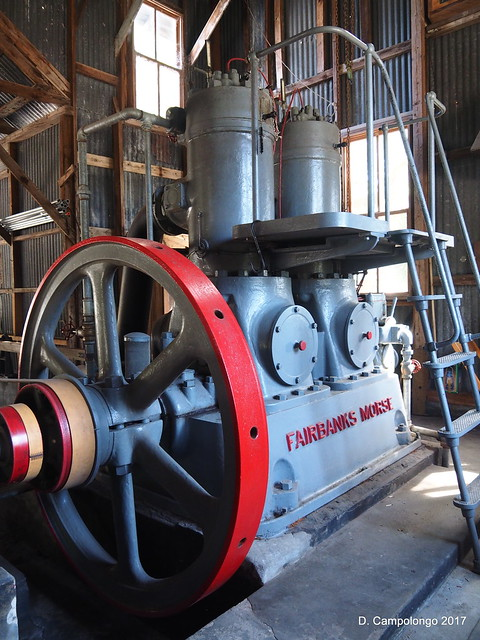 Fairbanks Morse stationary diesel engine at Koreshan Historic Site