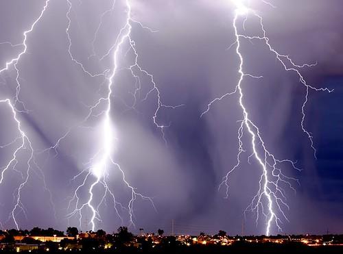 summer sky rain twilight tucson monsoon lightning shaft thunderstrom