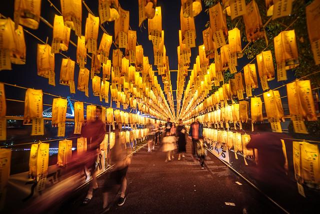 Wish lanterns tunnel, Yangsan, Korea