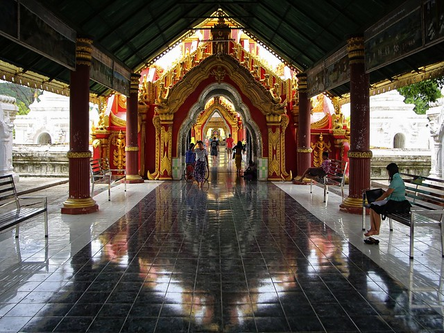 The southern Kuthodaw Pagoda approach pulls you  in