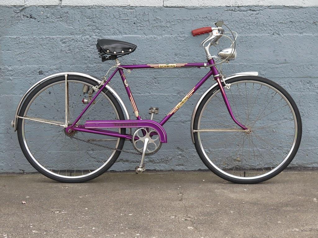 838625ebaa9 1957 Schwinn Traveler 3-Speed Bicycle. | Violet | Jim Ratliff | Flickr