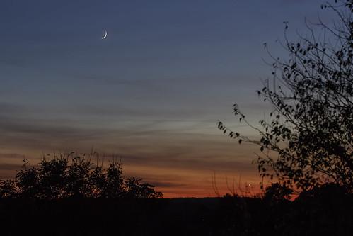 astronomy canonef100mmf28lmacro dutonhill eos7dmarkii landscape macro moon nickramsey sunset crescent skyline odc ourdailychallenge glow