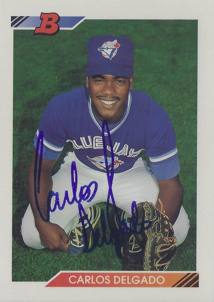 1992 Bowman Carlos Delgado 127 Catcher Autographed Flickr