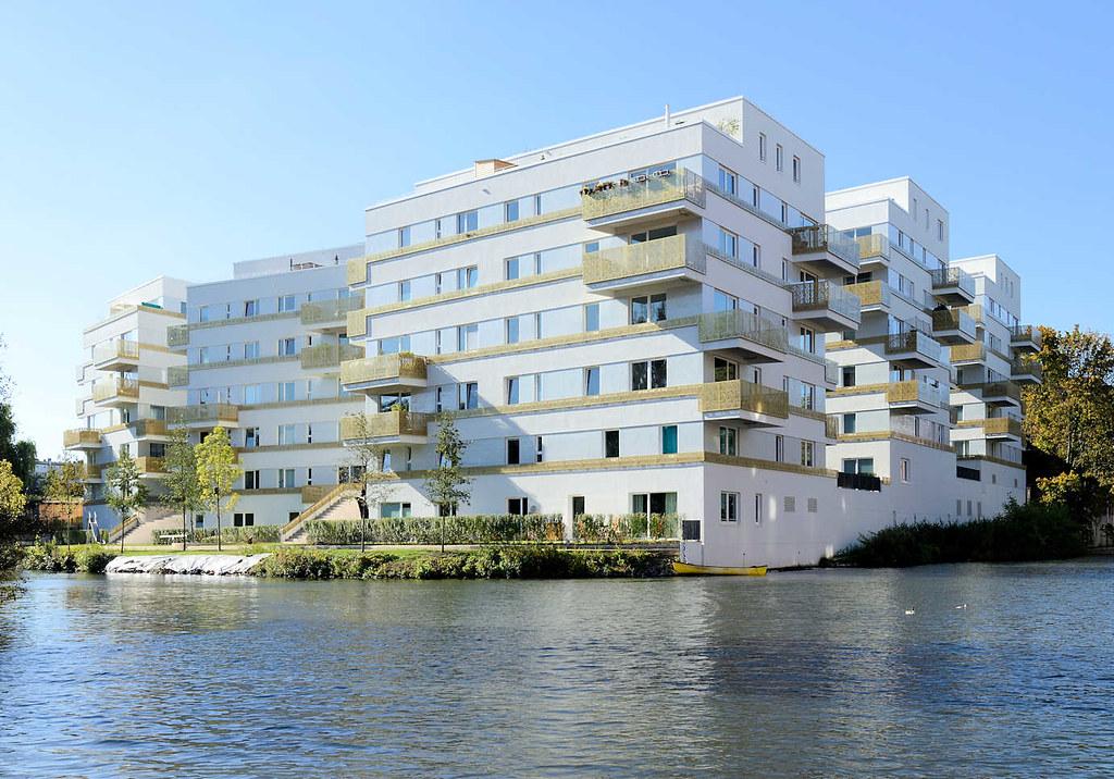 6139 Wohnungsneubau - Wohnblock am Rückerskanal / Mittelkanal in Hamburg Hamm.