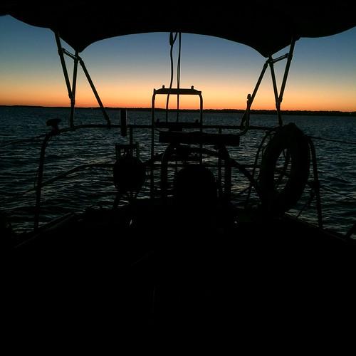 sunset sailing sojourner