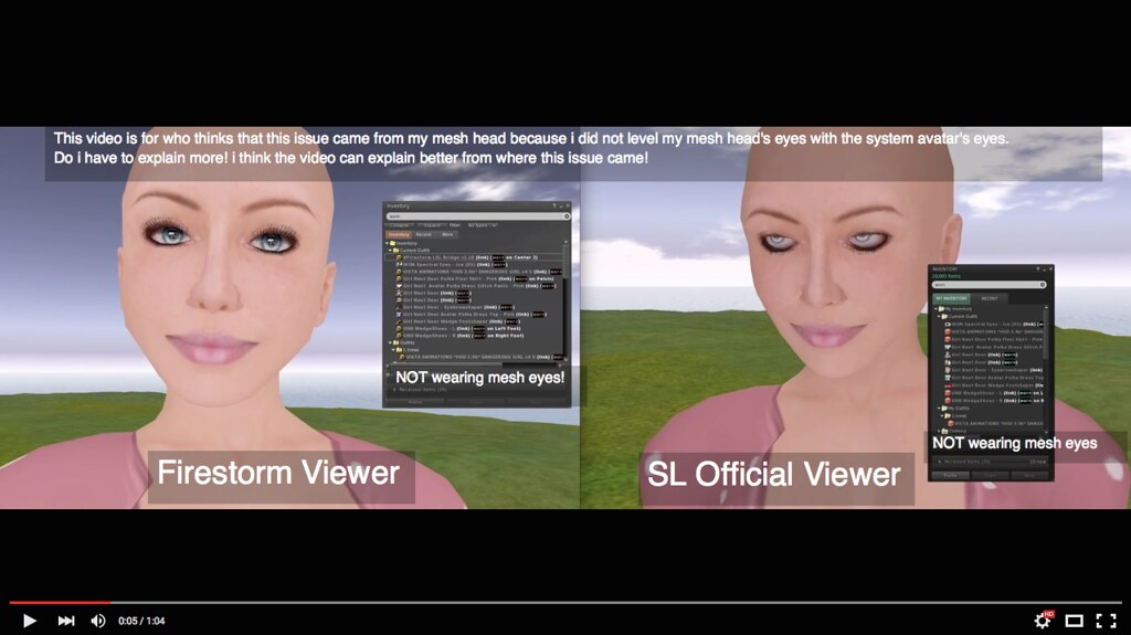 SL viewer Eyes Issue | www youtube com/watch?v=wAf1MyAkg-M