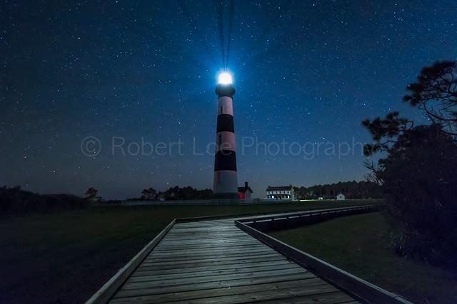 Stars at bodie Island Light House