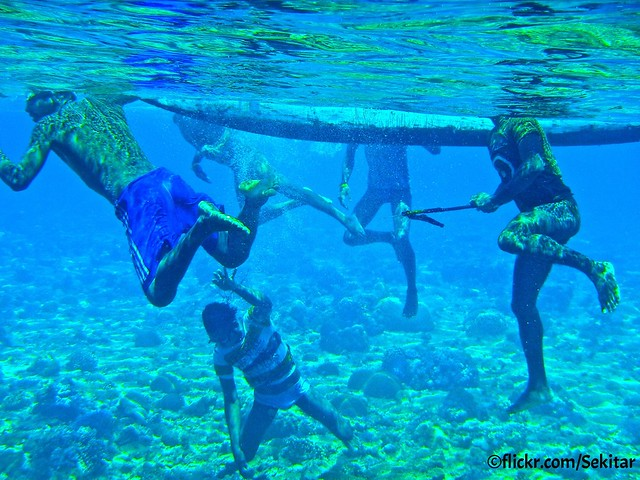 Fish hunters,  Pulau Pura, Alor NTT
