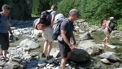 Zoeken naar de oversteek bij klimgebied Ewige Jagtgründe