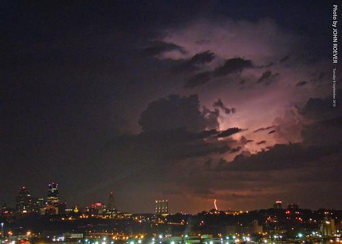 morning storm skyline september kansascity thunderstorm lightning kc kcmo beforesunrise 2015 kansascityskyline kcskyline september2015 skylineandlightning