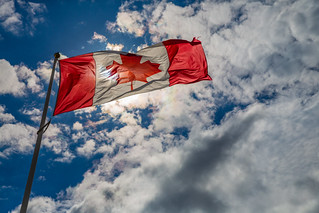 Canadian Flag   by Tony Webster