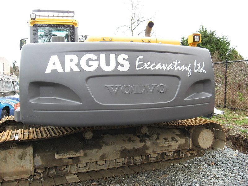 Excavator vehicle graphics