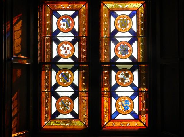Stained Glass Window, Entrance Hall, Abbotsford House, near Tweedbank, Roxburghshire, Sep 2015