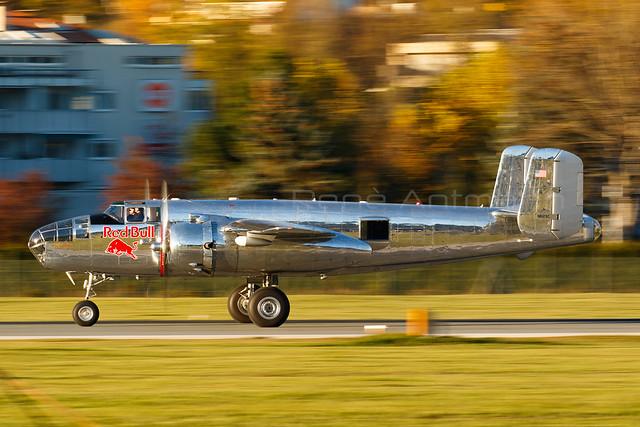 Red Bull (The Flying Bulls) | North American B-25J Mitchell | N6123C | Innsbruck | LOWI | 26October, 2015