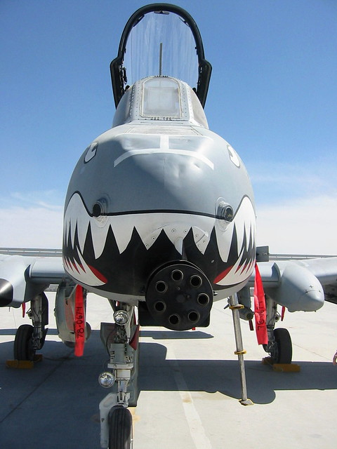 Close-Up Shark Mouth & 30mm Gun. A-10C 78-0674/FT