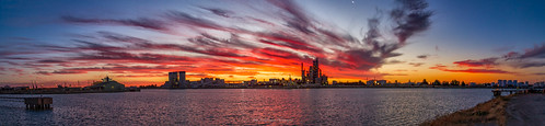 adelaide b industrial outdoor panorama portadelaideriver red sky southaustralia sunset water yellow portadelaide reflections ue australia