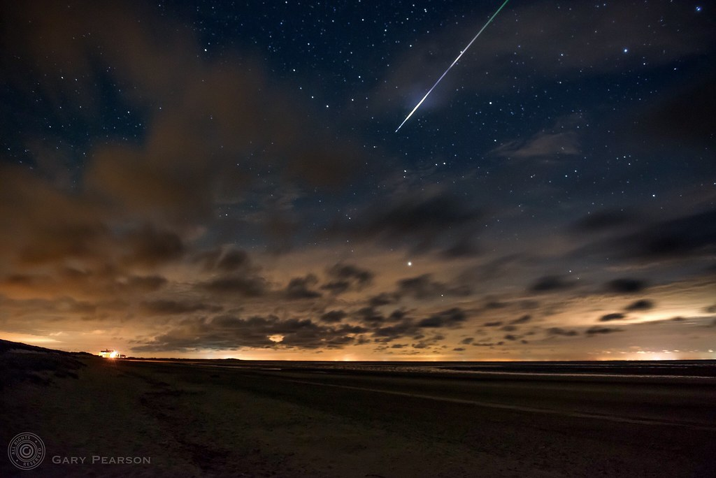 A Perseid meteor over Brancaster
