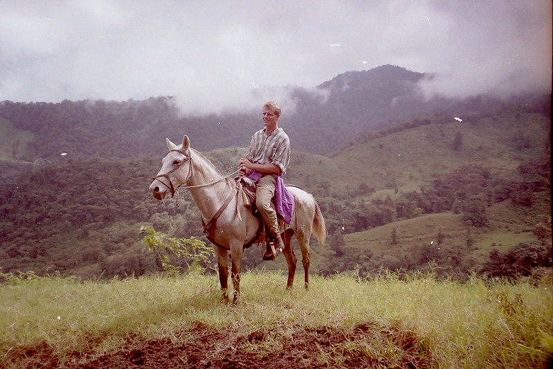 Horse ride from La Fortuna to Monteverde, Costa Rica, 2001.