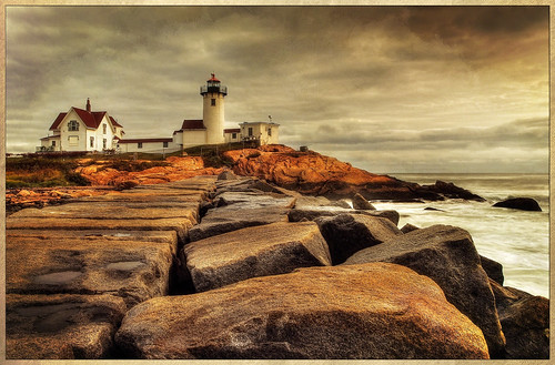 eastern point light lighthouse gloucester ma massachusetts hdr texture ocean harbor